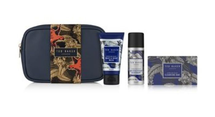 Ted Bakers Travel Wash Bag Gift Mens,3 for 2 & 20% OFF 3 Sets Only £19.20