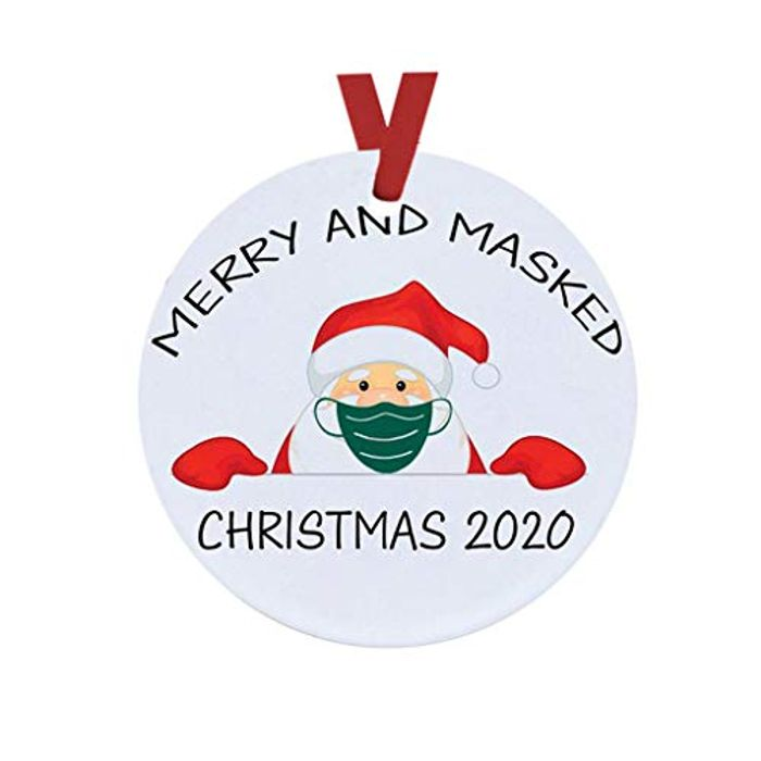 Masked Christmas Ornament