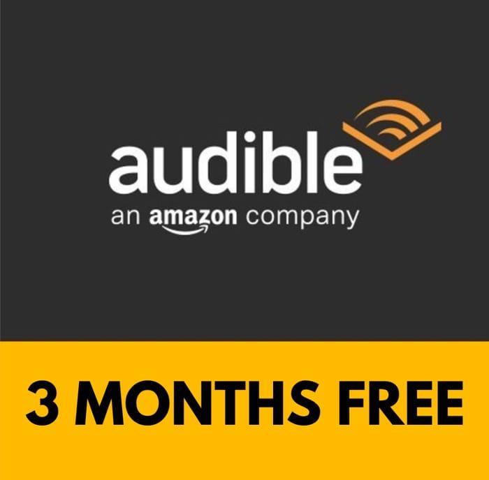 Audible - 3 Months Free Membership - Audiobooks