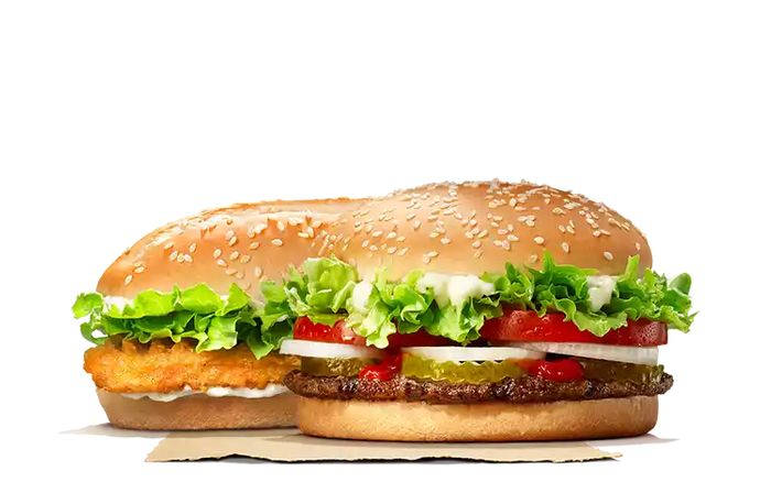 £5 for 2 WHOPPERS or 2 CHICKEN ROYALES Tuesday