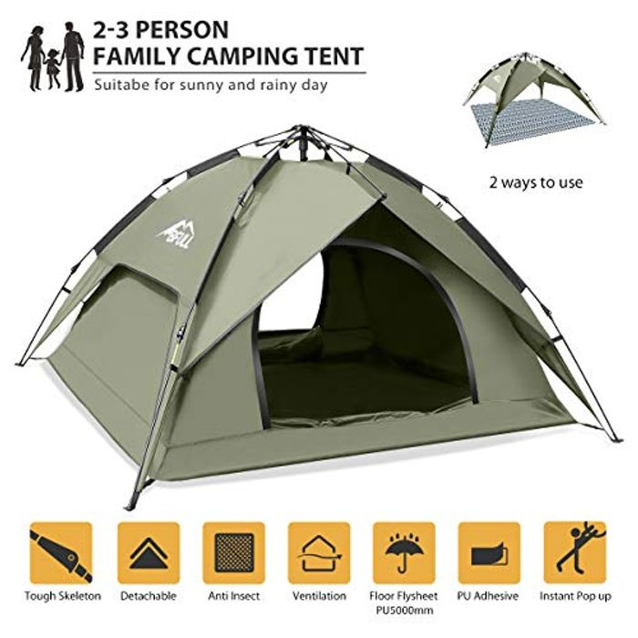 DEAL STACK - BFULL Instant Pop up Camping Tents + £20 Coupon