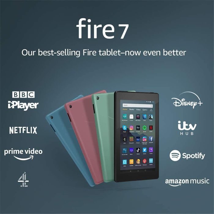 "Amazon Fire 7 Tablet 7"" Display - 16GB All Colours - £29.99"