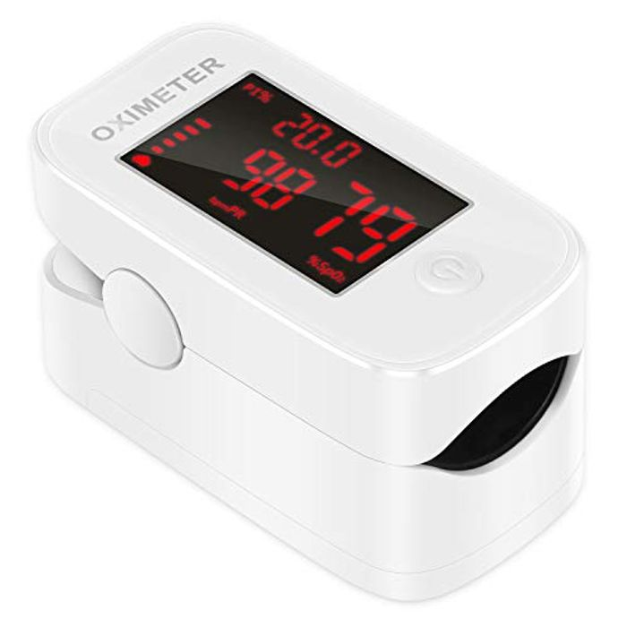 Save 40% Fingertip Pulse Oximeter Blood Oxygen Saturation Monitor