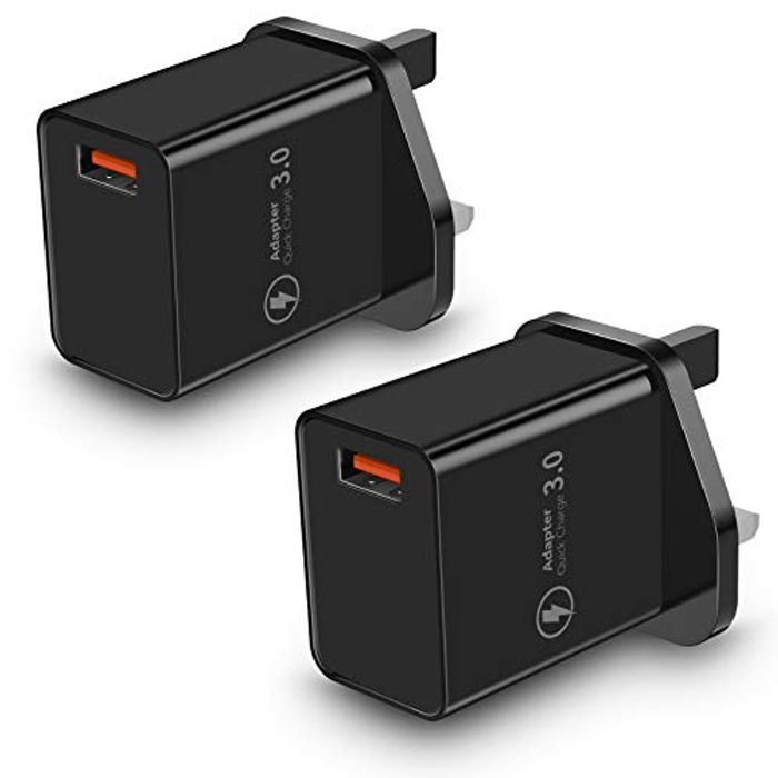 Save 70%- Quick Charge 3.0 USB Plug- 2 Pack
