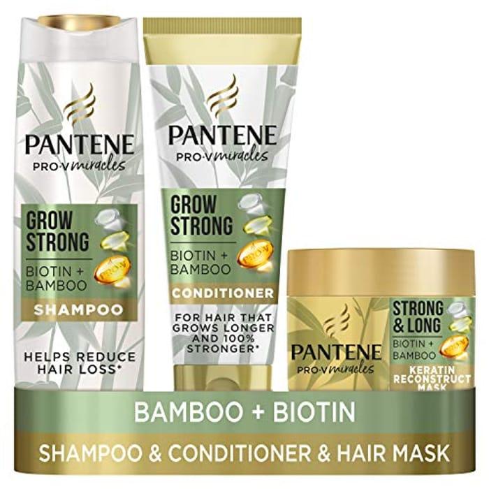 Pantene Grow Strong Hair Loss Treatment Set for up to 96% Less Hair Loss