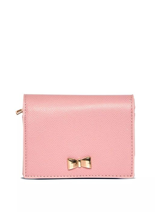 Dorothy Perkins Blush Mini Bow Purse with Free next Day Delivery