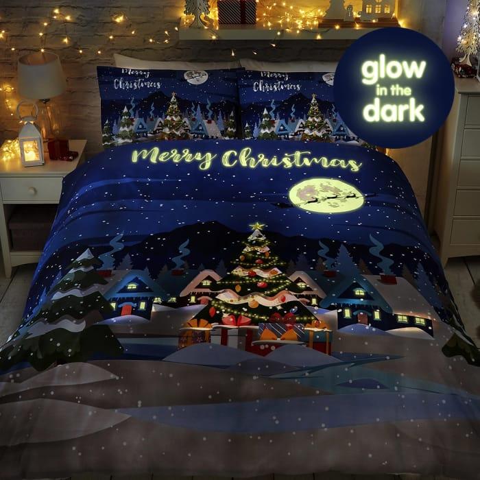 Christmas Glow in Dark Bedding set,Home Bargains