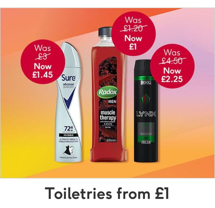 Toiletries from £1