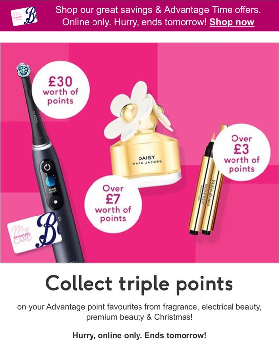 Collect Triple Points Fragrance, Electrical Beauty, Premium Beauty & Christmas
