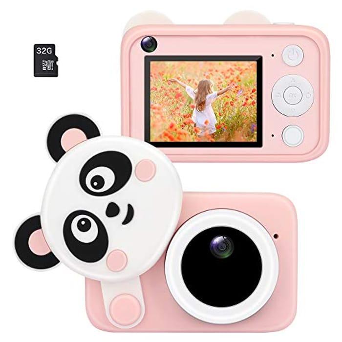 BestCool Kids Mini Digital Camera, 12 MP +32GB SD Card
