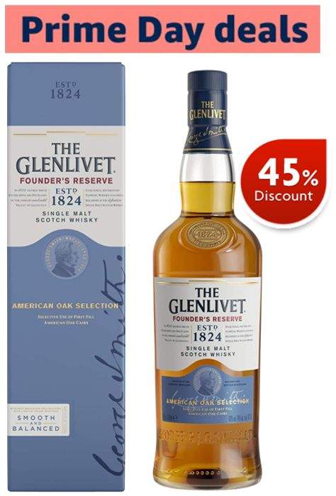 45% OFF! The Glenlivet Founder's Reserve Single Malt Scotch Whisky, 70cl