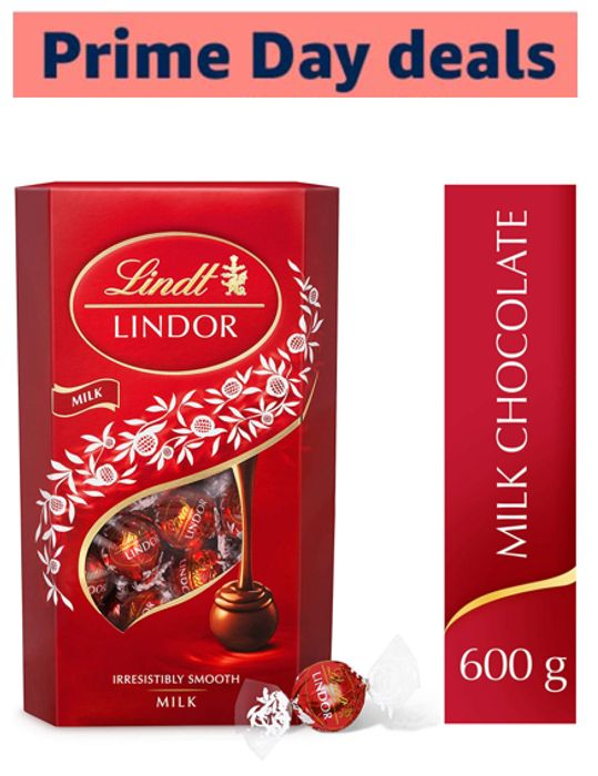Lindt Lindor Milk Chocolate Truffles Box - Approx. 48 Balls, 600 G