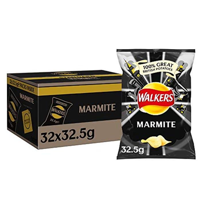 Walkers Marmite Crisps , Case of 32 - Almost Half Price at Amazon
