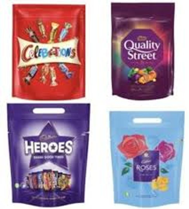 Quality Street / Heroes / Celebrations / Roses Pouch