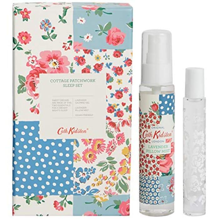 Cath Kidson Beauty Cottage Patchwork Travel Sleep Set (Prime Exclusive)
