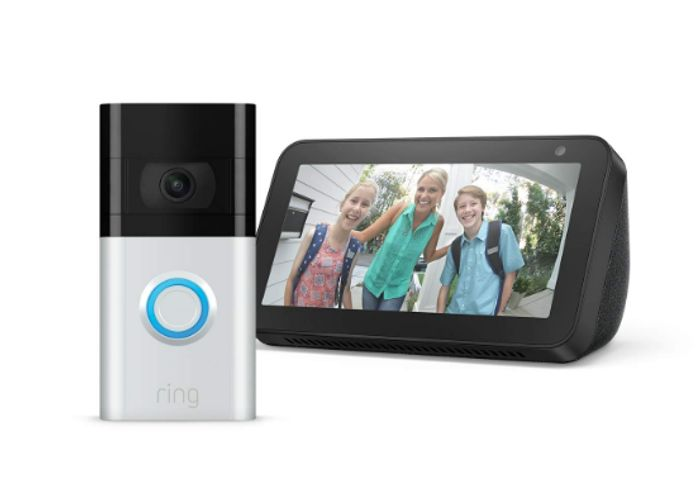 Prime Day Deal - All-New Ring Video Doorbell 3 with Echo Show 5 - Only £119!