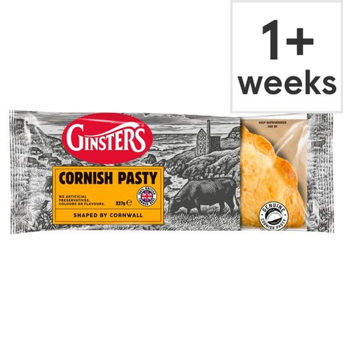 Ginsters Pasties 90p with Clubcard (Original, Vegan, and More)