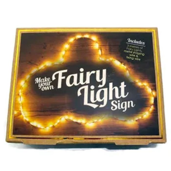Make Your Own Fairy Light Sign for Christmas
