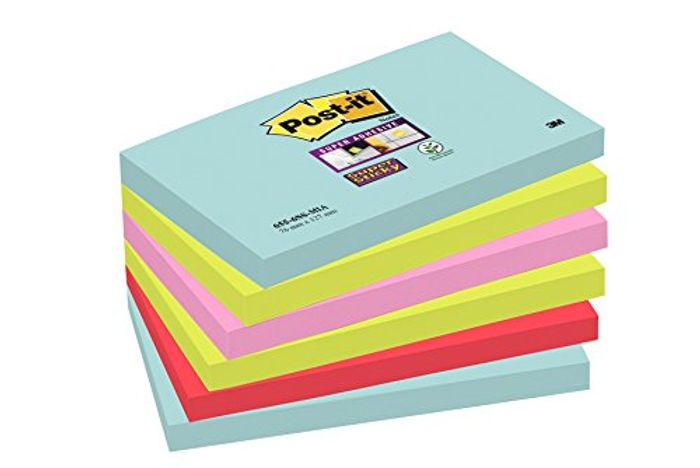 Prime Deal! Post-It Super Sticky Notes, Pack of 6 Pads