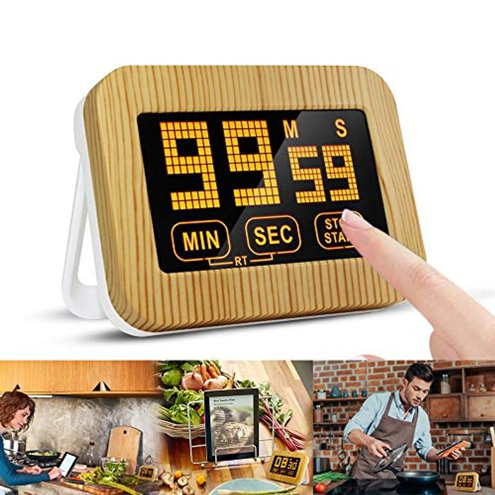 ZealBoom Kitchen Timer, Touch Screen Cooking Timer