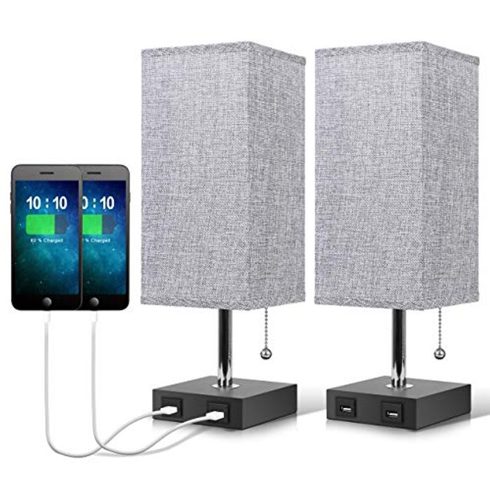 DEAL STACK - USB Bedside Table Lamp + £12 Coupon