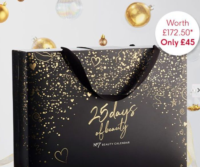 Boots No7 Advent Calendar Available To Buy - £172.50 Worth For £45!