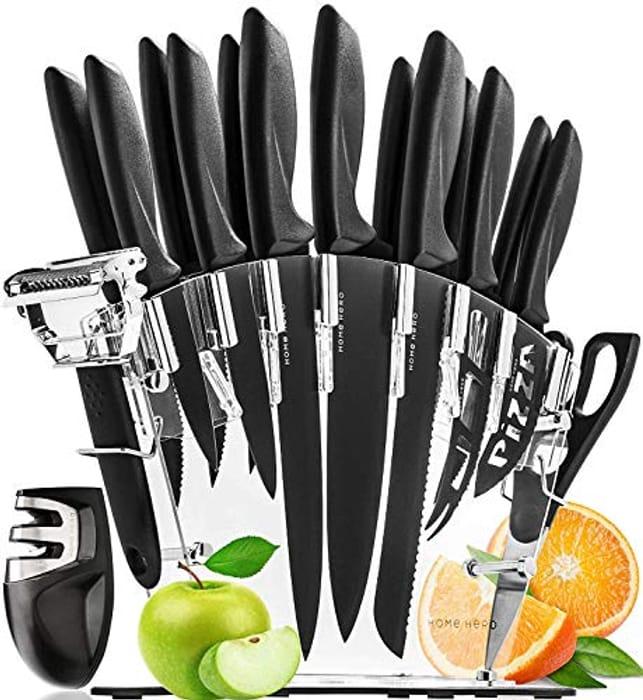CHEAP! 13 Pcs Stainless Steel Kitchen Knives Set Knife Block