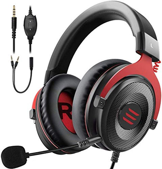 EKSA Gaming Headset with Detachable Noise Cancelling Mic