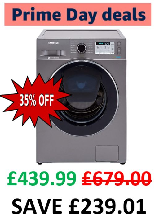 Samsung Washing Machine with Addwash and Ecobubble, 8kg Load, 1400 Spin