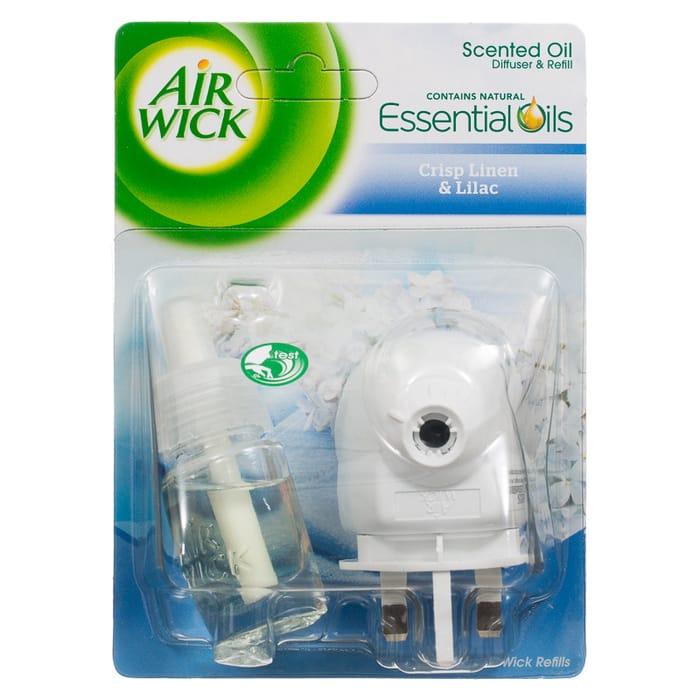 Air Wick Crisp Linen & Lilac Scented Oil Diffuser & Refill 12ml