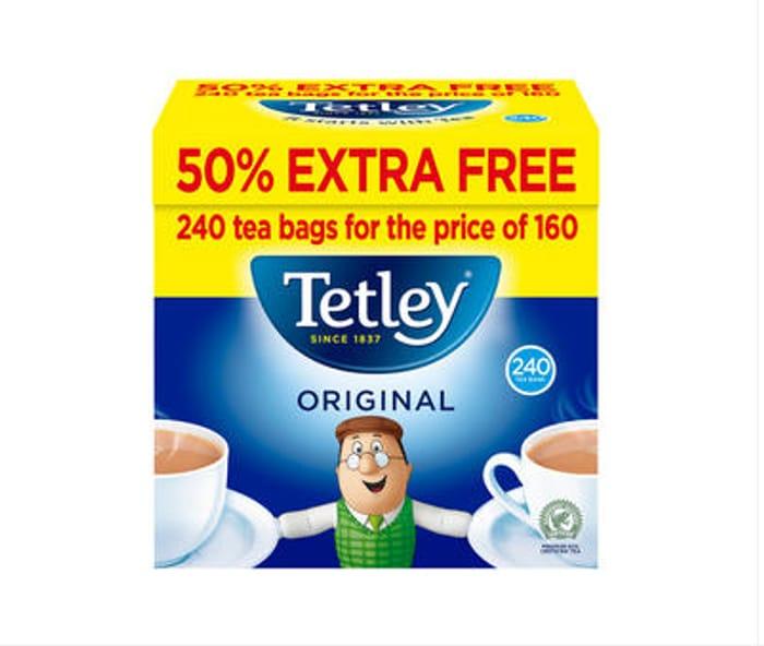 Tetley Original Tea Bags 160s 50% Extra Free 750g - Only £2.5!