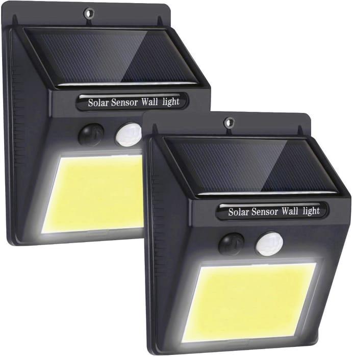 Solar Outdoor Motion Sensor Security Lights (2 Pack)