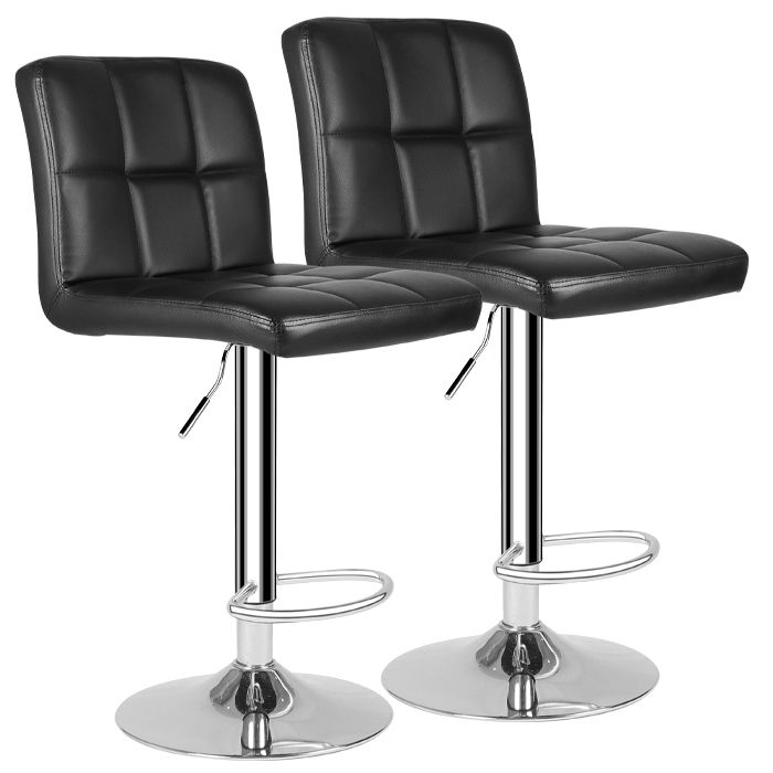 Pair Of Gas Lift Bar Stools In Black or Grey Just £49.99 Delivered!