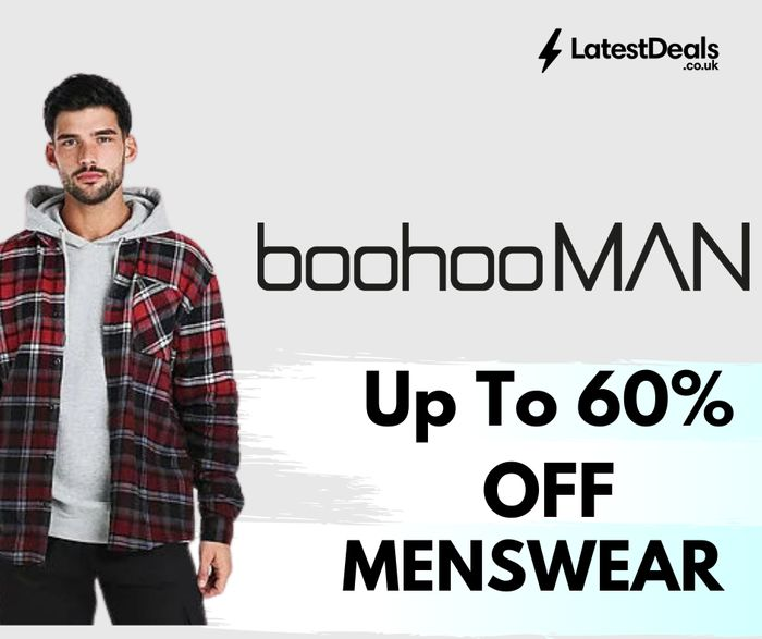 boohooMAN - Up To 60% Off Menswear + Premier Delivery for £5.99