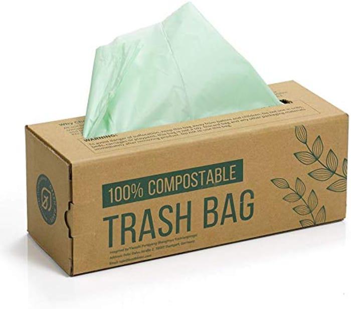 150 Compost Bin Liner Bags - 100% Biodegradable