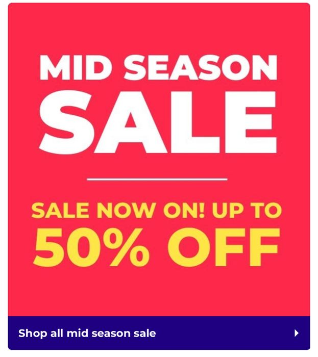 STUDIO Mid Season Sale! Up to 50% Off!