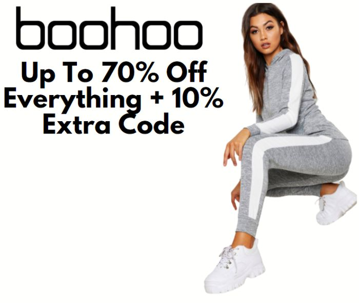 boohoo - Up To 70% Off Everything + Extra 10% Code!