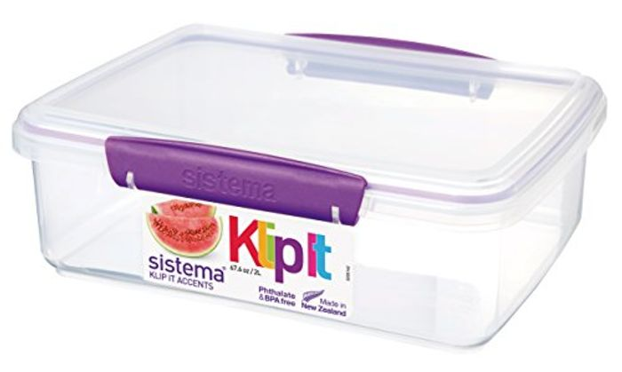 Sistema KLIP IT Accents Food Storage Container, 2 L - Assorted Colours