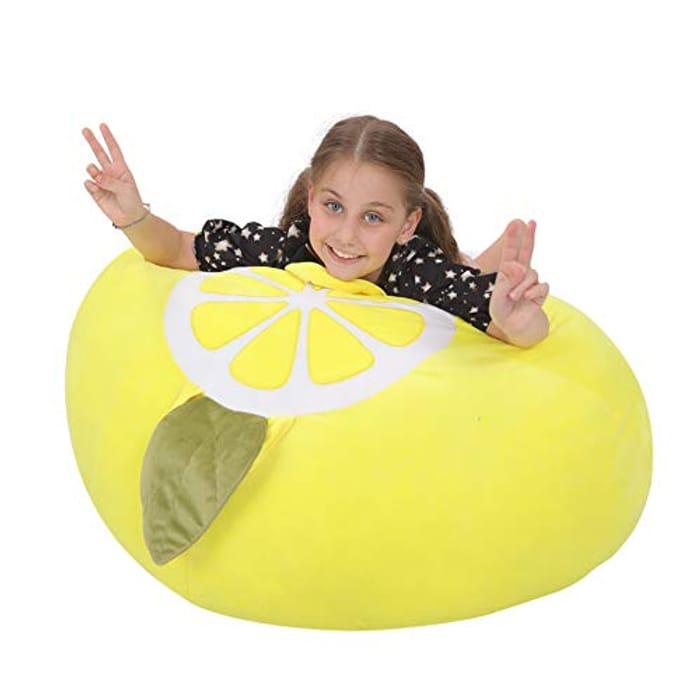 Youngeyee Giant Lemon Teddy Storage Kids Bean Bag - Only £1.99