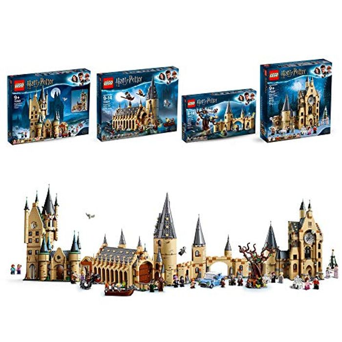LEGO Harry Potter Clocktower, Astronomy Tower, Great Hall, Whomping Willow Set