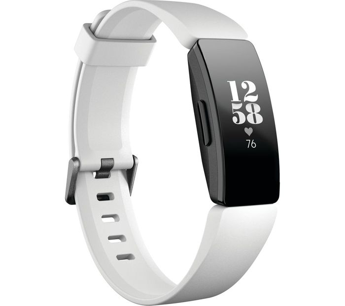 FITBIT Inspire HR Fitness Tracker - White save £30 Ends Today