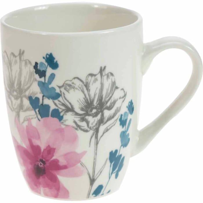 Wilko Sketched Floral Mug