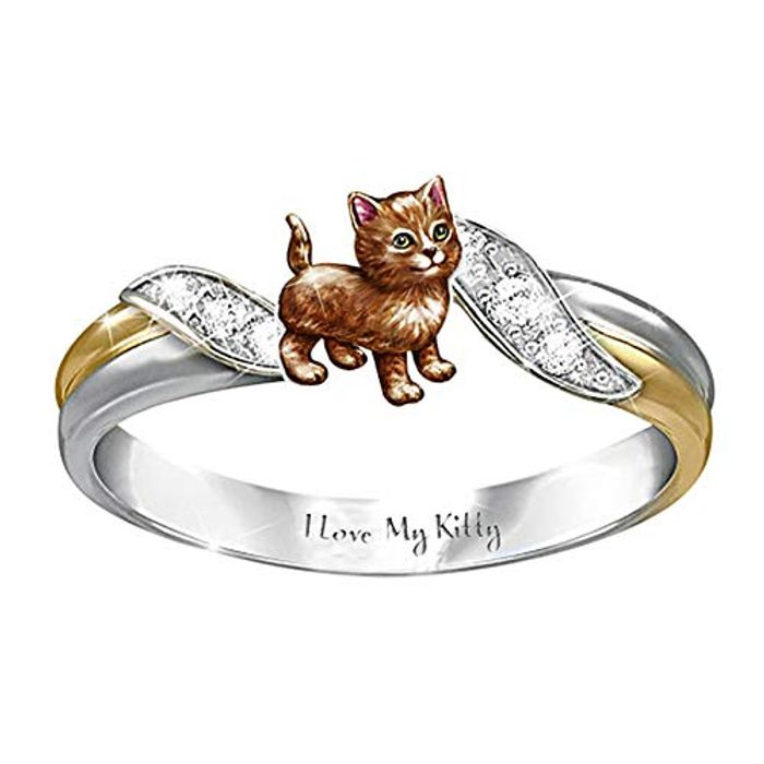 Classic Cartoon Animal Ring Party Cocktail Ring