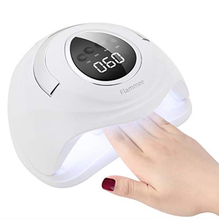 UV LED Nail Lamp, Flammee 168W Ultra Fast LED Display