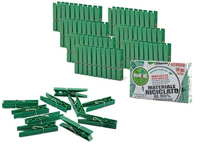 80 Pcs Ecological Clothes Pegs Set Big Size, 95% Recycled Plastic