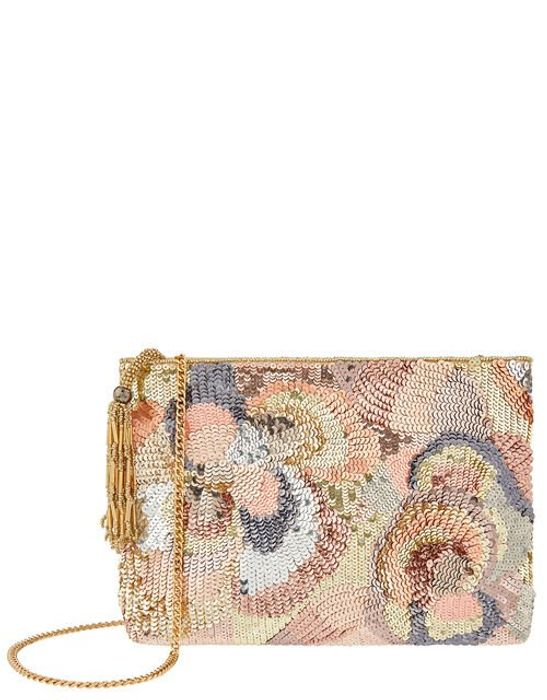 Seraphina Floral Sequin Clutch Bag