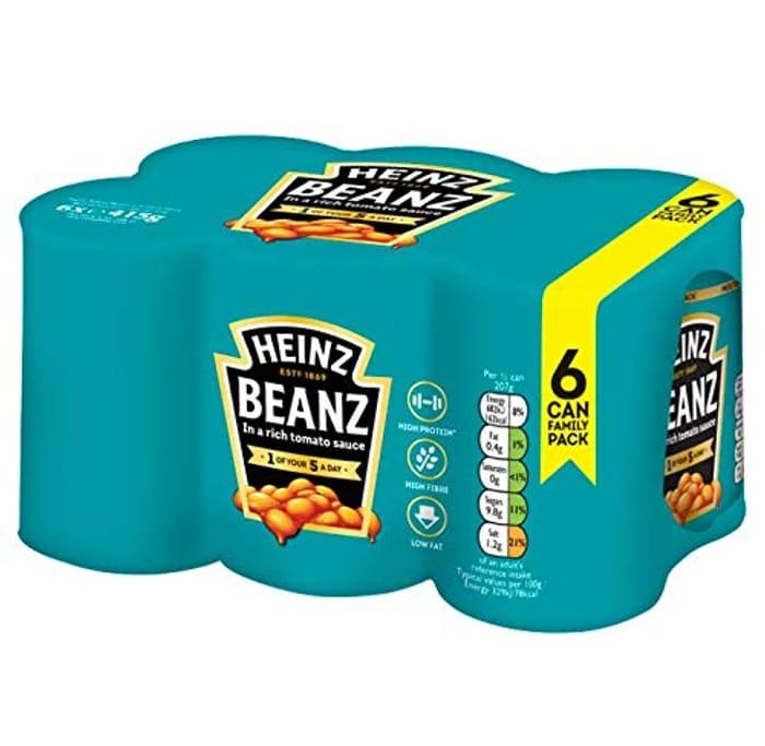 Heinz Baked Beanz Tomato Sauce, 415g (Pack of 6)