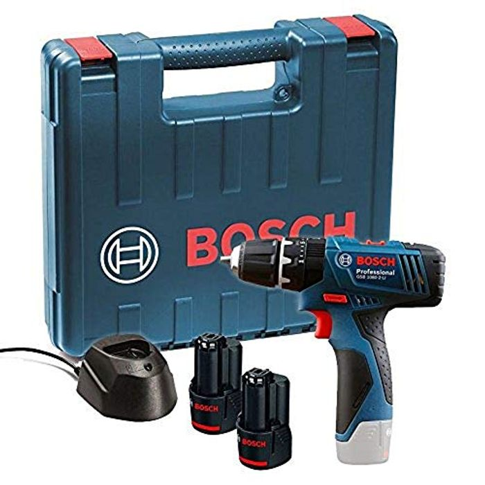 Bosch 12V Combi Drill with 2 X 1.5 Ah Batteries (Prime Exclusive)