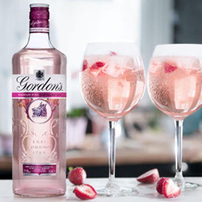 *SAVE £7* Gordon's Premium Pink Distilled Gin 1Ltr