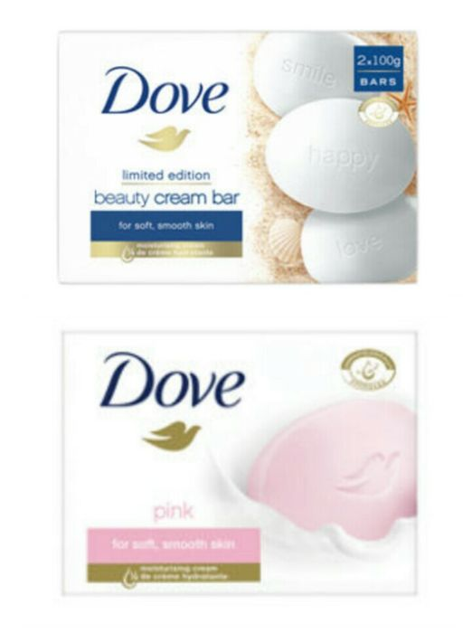 Dove Beauty Cream Soap Bars 2x100g - Original or Pink